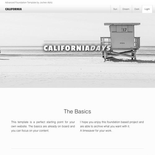 California - Light Page