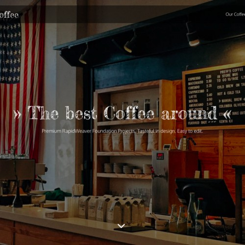 Coffee - Hero Page