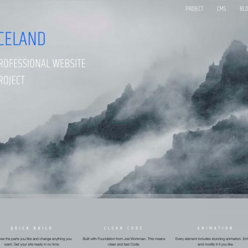Iceland - Landing Page