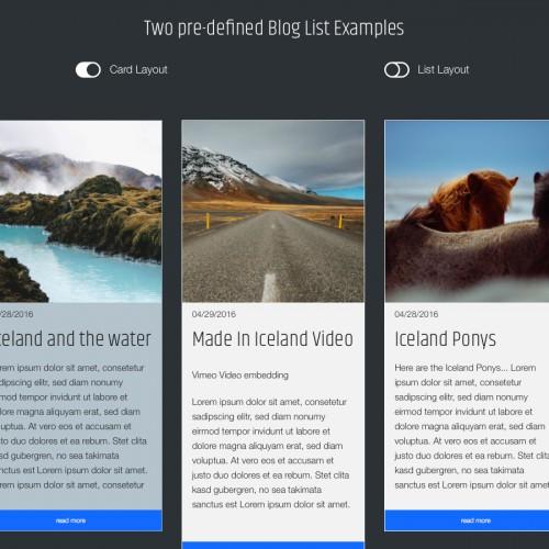 Iceland - Masonry Blog List