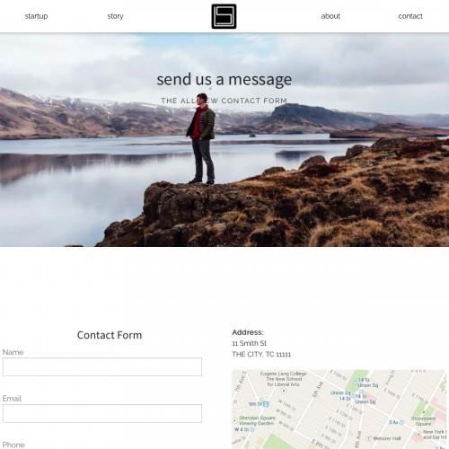 Startup - Contact Page