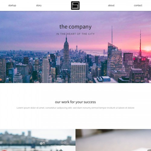 Startup - Second Page Header
