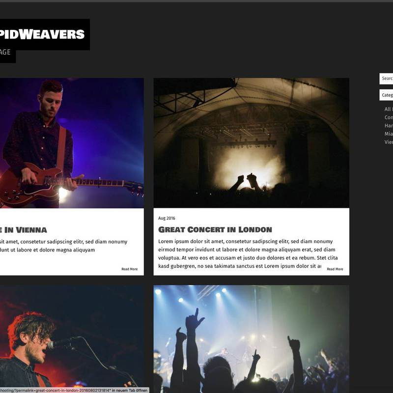 The Band - Blog Example Page